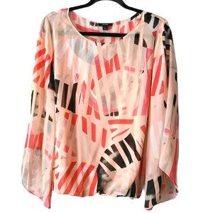 Alfani Coral Spring Blouse Lined with Cami…